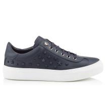 ACE Sneaker aus dunkelblauem Kalbsleder mit Sternen