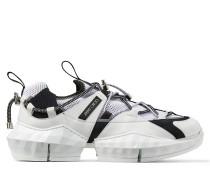 Diamond Trail/m Sneakers aus schwarz-weißem Stretch-Mesh mit Lederdetails