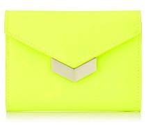 Leonie Portemonnaie aus mattem neongelbem Kalbsleder
