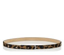 Britt/s Gürtel aus Leder mit Fell-Print und Leoparden-Motiv