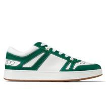 Hawaii/m Sneaker aus Vachetteleder in Weiß und dunklem Moosgrün