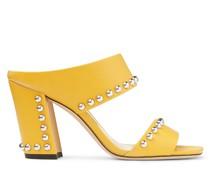 Matty 85 Sandaletten aus sonnengelbem Nappaleder