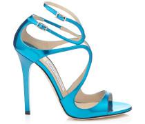 Lance Sandalen aus blauem Glanzleder
