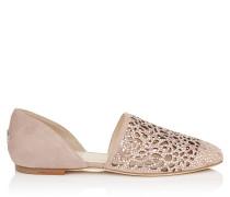 Globe Flat Flache Schuhe in Ballettrosa mit Hotfix Kristall