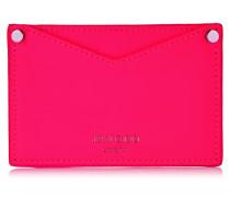 Liza Shocking Pink Matt Neon Calf Card Wallet