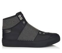 Archie High-Top-Sneaker aus schwarzem Kalbsleder