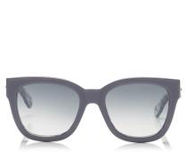 Otti Sonnenbrille aus blauem Acetat und rundem Gestell