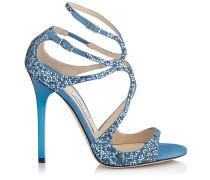 Lance Sandalen aus blauem Wildleder mit Kristallen