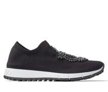 Verona Sneaker aus schwarzem Gewebe mit Schmuckstickerei