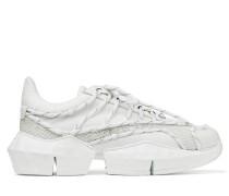 Diamond Laced/m Sneaker weichem Leder und technischem Netzgewebe in Weiß Mix