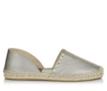 Dreya Espadrilles aus goldenem Lamé in Metallic-Optik