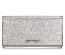 Remy Brieftasche aus genarbtem Ziegenleder in Platin mit Metallic-Optik