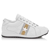 Rafi Sneaker aus weichem weißen und silbernem Vachette-Leder