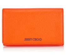 Marlie Brieftasche aus weichem genarbtem orangenem Ziegenleder