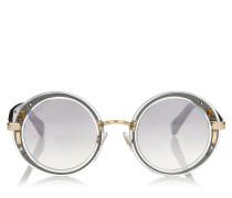 GEM Sonnenbrille mit rudem durchsichtigem Gestell und Swarovski Kristall