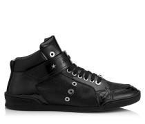 Lewis Sneaker aus schwarzem Lackleder mit feinem Glitzer