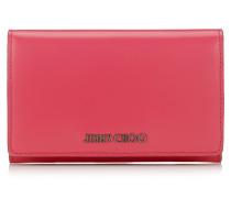 Marlie Kontinentale Brieftasche aus Spazzolato-Leder in Dahlia