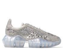 Diamond/F Sneaker aus schimmerndem Wildleder mit Kristall