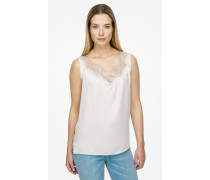 Silk Lace-trimmed Top