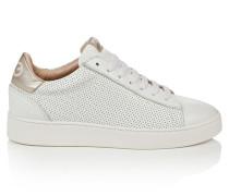 Sneakers aus perforiertem Leder