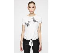 T-Shirt mit dekorativen Details