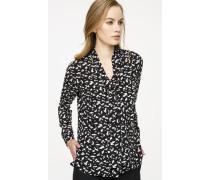 Seiden-Bluse mit Print