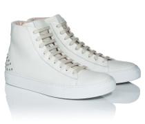 High-Top-Sneakers aus Leder mit Nieten-Details