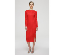 Langärmliges Plissé-Kleid
