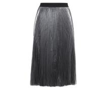 Silver Plissé Skirt