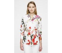 Baumwoll-Bluse im floralen Design