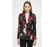 Jacquard-Blazer im floralen Design