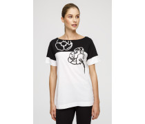 T-Shirt mit Glanz-Print