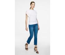 Bootcut-Jeans mit ausgefranstem Saum
