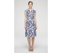Kleid mit Print und Bindegürtel