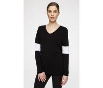Woll-Pullover im Zweifarben-Design