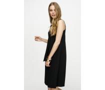 Kleid mit Falten-Details und Bindebändern