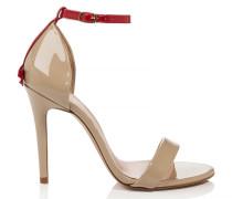Sandalette aus Lackleder