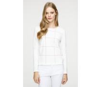 Pullover mit Karo-Dessin im Intarsien-Strick