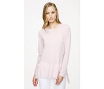 Pullover aus feiner Wolle mit Bindebändern
