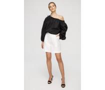 Bermuda-Shorts mit abgenähten Falten