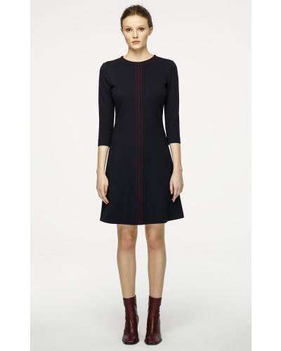 A-Linien-Kleid in Midilänge aus Punto Milano