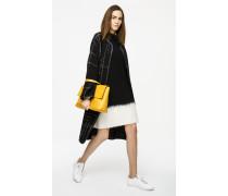 Kleid aus zweifarbigem Wollstrick
