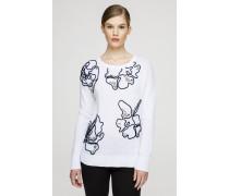 Baumwoll-Pullover mit dekorativen Details