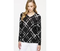Wollstrick-Pullover mit Print