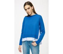 Pullover aus Schurwolle im Zwei-in-eins-Style