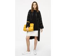 Tweed-Mantel mit Wolle