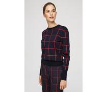 Karo-Pullover aus Schurwolle
