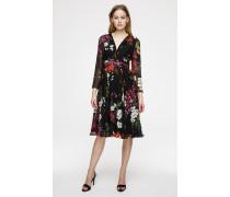 Kleid aus floralem Seidenchiffon