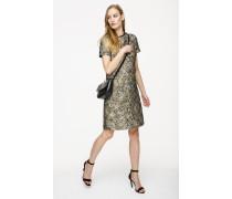 Jacquard-Kleid im Metallic-Look
