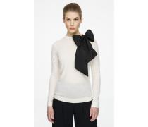 Pullover aus Schurwolle mit dekorativer Schleife